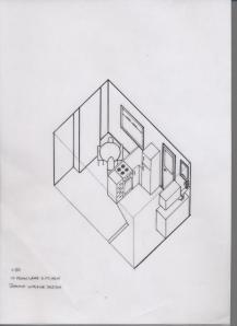 Brixham kitchen axonometric drawing